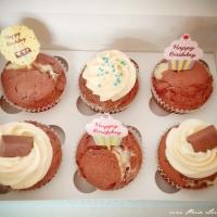Cupcake mit Eierlikör und Cheesecake-Füllung