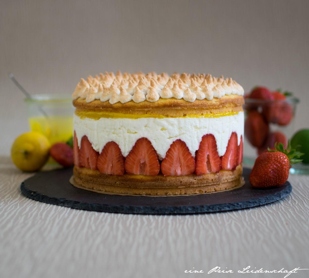 Erdbeer Lemon Curd Torte Mit Mascarpone Eine Prise Leidenschaft