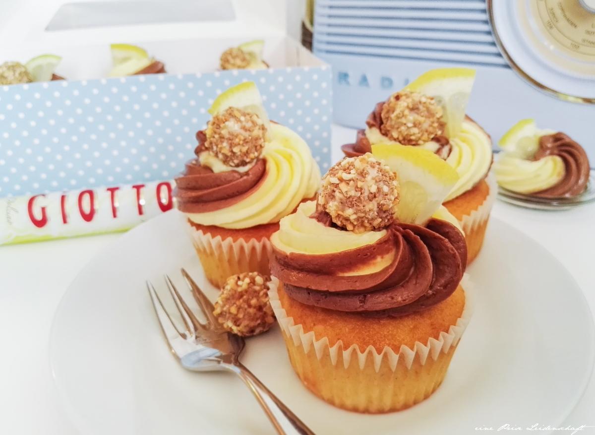 Zitronen-Giotto-Cupcake