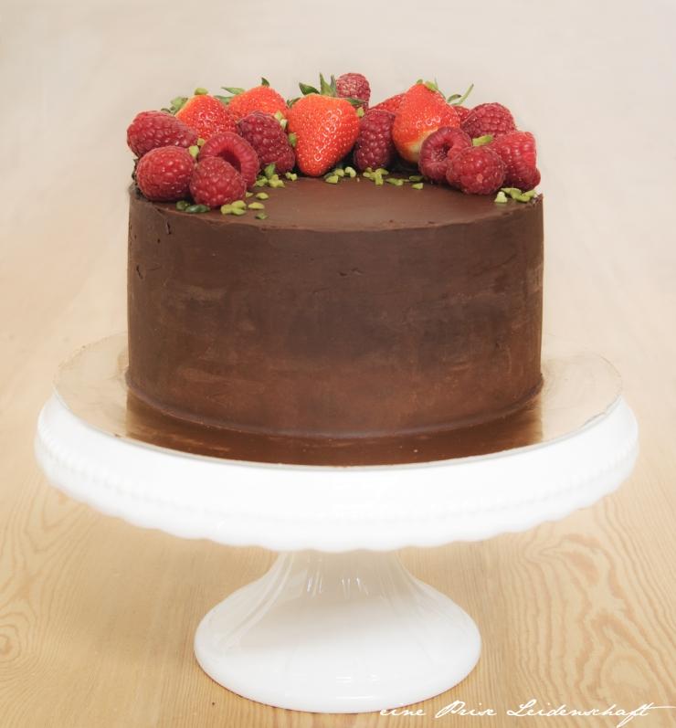 Mascarpone-Himbeer Torte mit Ganache_3