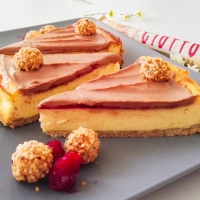 Nougat-Himbeer-Cheesecake