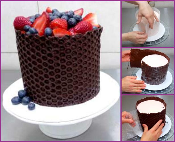 fabartdiy-DIY-Bubble-Wrap-Chocolate-Cake-Decorating-Tutorial